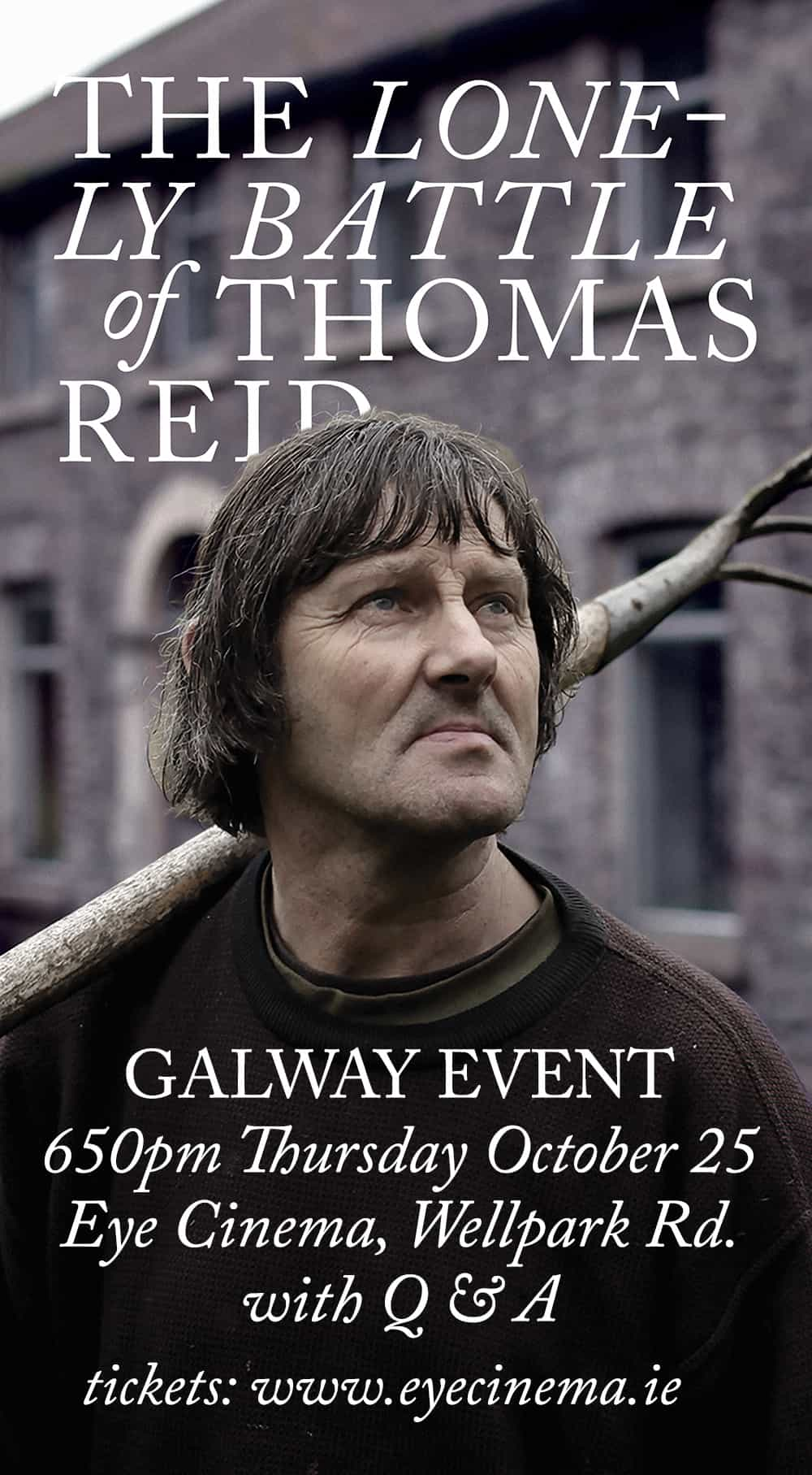 The Lonely Battle of Thomas Reid – EVENT SCREENING & PANEL CHAT
