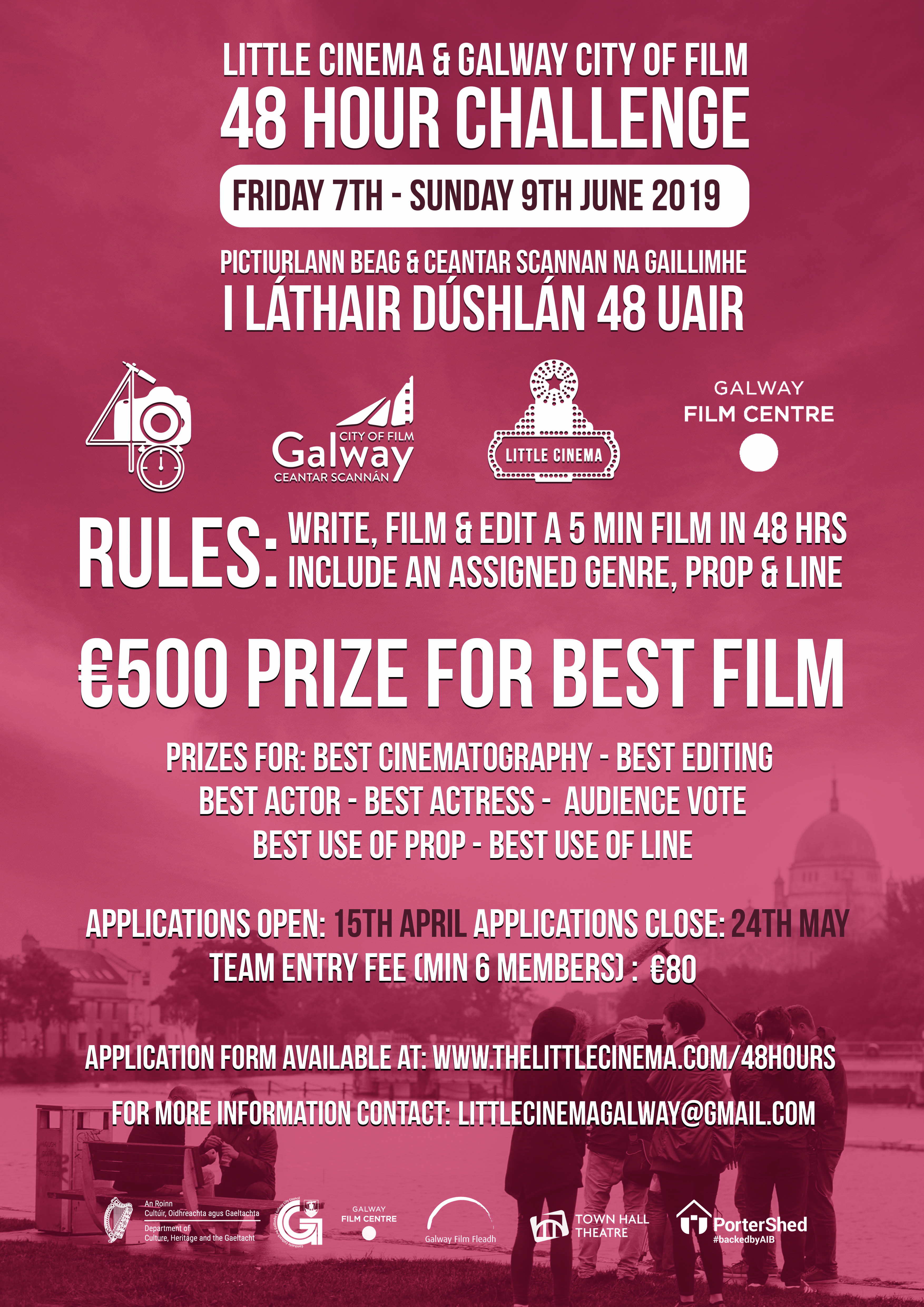 Applications now OPEN for Little Cinema & Galway City of Film 48 Hour Challenge 2019!